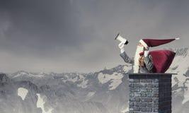 Santa Claus är redan här Blandat massmedia Royaltyfri Bild