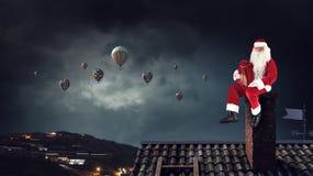 Santa Claus är redan här Blandat massmedia Arkivbilder