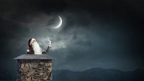 Santa Claus är redan här Blandat massmedia Royaltyfri Fotografi