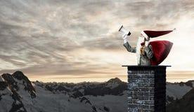 Santa Claus är redan här Blandat massmedia Arkivfoton