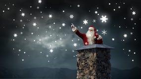 Santa Claus är redan här Blandat massmedia Fotografering för Bildbyråer