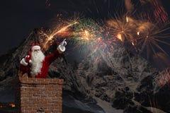 Santa Claus är redan här Blandat massmedia Royaltyfria Bilder