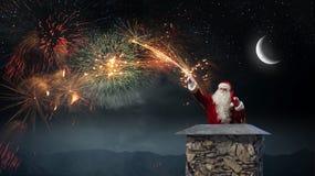 Santa Claus är redan här Blandat massmedia Blandat massmedia Fotografering för Bildbyråer