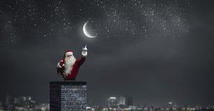 Santa Claus är redan här Blandat massmedia Blandat massmedia Royaltyfri Foto
