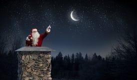 Santa Claus är redan här Blandat massmedia Blandat massmedia Royaltyfri Fotografi