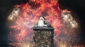 Santa Claus är redan här Blandat massmedia Blandat massmedia Arkivfoto