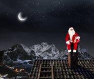 Santa Claus är redan här Blandat massmedia Blandat massmedia Arkivbild