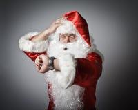 Santa Claus är sen Arkivfoto