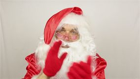 Santa Claus är välkomnande lager videofilmer