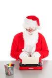 Santa Claus écrivant une lettre photo libre de droits