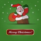 Santa Claus über einem weißen Hintergrund Stockbilder