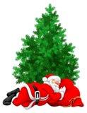 Santa claus śpi royalty ilustracja