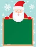 santa Claus εμβλημάτων ανασκόπησης Στοκ Εικόνες
