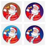 santa Claus κουδουνιών απεικόνιση αποθεμάτων