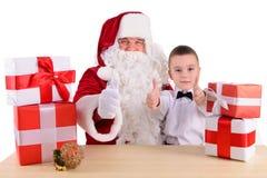 santa Claus παιδιών Στοκ Φωτογραφία