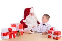 santa Claus παιδιών Στοκ Φωτογραφίες