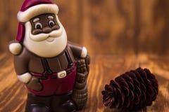 santa Claus σοκολάτας Στοκ εικόνες με δικαίωμα ελεύθερης χρήσης