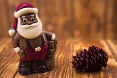 santa Claus σοκολάτας Στοκ φωτογραφία με δικαίωμα ελεύθερης χρήσης