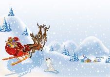 santa Claus Χριστουγέννων ανασκόπη&s διανυσματική απεικόνιση