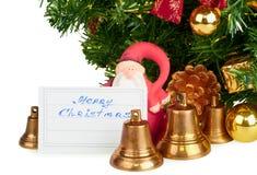 santa Claus Χριστουγέννων κουδο&up Στοκ Εικόνα