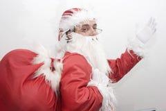 santa Claus Χριστουγέννων παραδο&sigm Στοκ φωτογραφίες με δικαίωμα ελεύθερης χρήσης