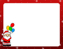 santa Claus Χριστουγέννων συνόρων Στοκ φωτογραφία με δικαίωμα ελεύθερης χρήσης