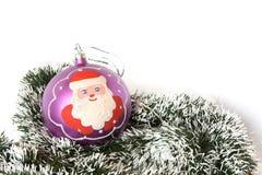 santa Claus Χριστουγέννων σφαιρών Στοκ εικόνες με δικαίωμα ελεύθερης χρήσης