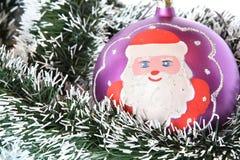 santa Claus Χριστουγέννων σφαιρών Στοκ Φωτογραφίες