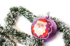 santa Claus Χριστουγέννων σφαιρών Στοκ φωτογραφία με δικαίωμα ελεύθερης χρήσης