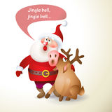 santa Claus Χριστουγέννων διανυσματική απεικόνιση