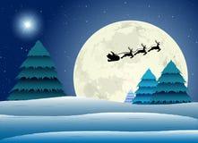 Santa Claus в зиму Стоковое Изображение