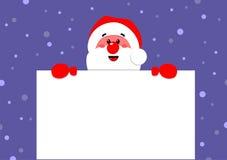 Santa Claus держит плакат иллюстрация вектора