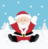 Santa Claus играя на снежке Стоковое Фото