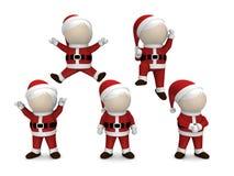 Santa Claus изолировало на белой предпосылке Стоковое фото RF