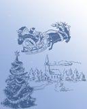 Santa Claus и его северный олень 2 иллюстрация штока