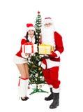 Santa Claus и Санта Giirl Стоковое Изображение