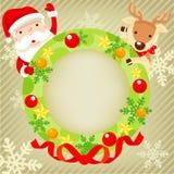 Santa Claus и северный олень Стоковые Фотографии RF