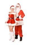 Santa Claus и сь Claus девушка снежка Стоковые Изображения RF