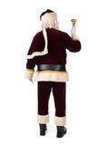 Santa Claus на его назад Стоковые Изображения RF