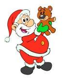 Santa Claus & плюшевый медвежонок Иллюстрация штока