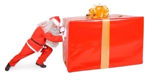Santa Claus с коробкой рождества Стоковые Изображения