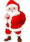 Santa Claus с мешком иллюстрация вектора