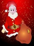 Santa Claus с настоящими моментами Стоковое Изображение