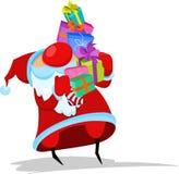 Santa Claus с подарками иллюстрация вектора