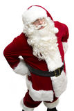 Santa Claus. (isolated on white) looking up at you with hands on his hips Stock Photography