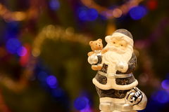 Santa Claus. Traditional Santa Claus with a toy Royalty Free Stock Photo