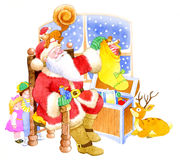 Santa Claus. With sack of presents Royalty Free Stock Image