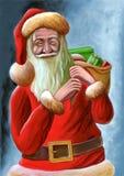 Santa Claus. Christmas card. Hand painted illustration Stock Photography