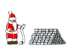 Santa claus. Is reading children's wishes Stock Images