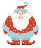 Santa Claus. It is amusing chubby Santa Klaus isolated on a white background Stock Photos